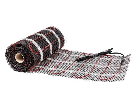 Heating cable, heating mat for ceramic tiles
