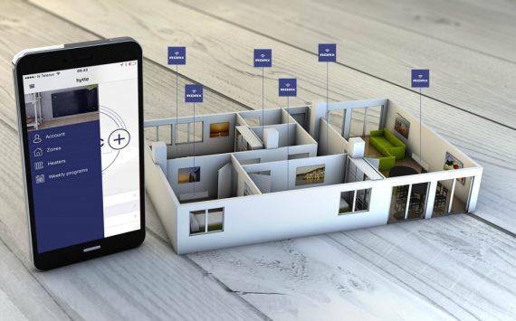Adax Neo Wifi H elektromos fűtőpanel 800W Gyöngyház fekete színben
