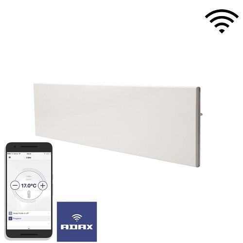 Adax Neo Wifi H elektromos fűtőpanel 1200W Gyöngyház fekete színben
