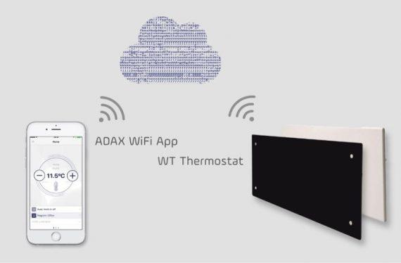 Adax Neo Wifi L elektromos fűtőpanel 1200W keskeny modell